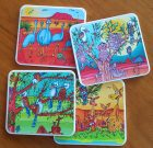 Cartoon coasters